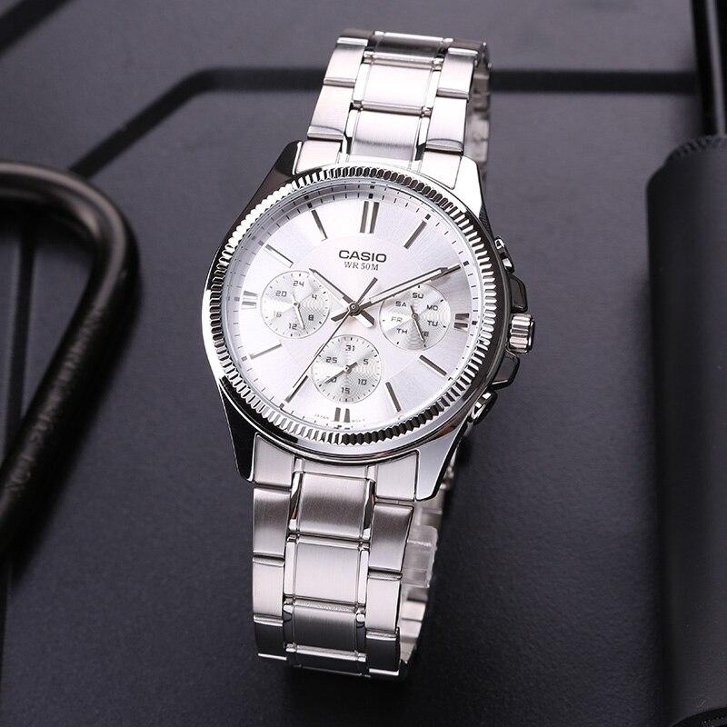 964b6a2e441e Reloj Casio puntero serie de ocio de tres veces de cuarzo relojes hombre MTP -1375D