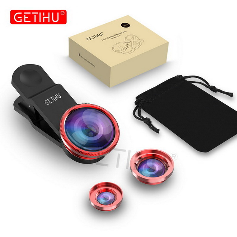 Universal Fish Eye 3in1 + Clip Fisheye Smartphone Camera Lens Wide Angle Macro Mobile Phone Lents For iPhone 7 6 5 4 Smart Phone 8