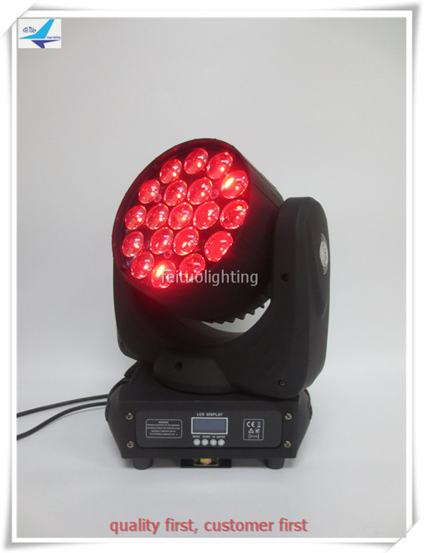 (12/lot)Sound effecting led wash light 19x10w led beam zoom moving head ...
