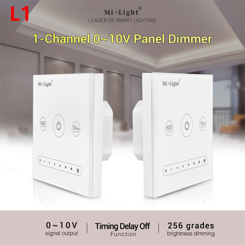 Obliging Milight Ac100~220v 1-channel 0~10v L1 Panel Dimmer Use With Wifi Remote Controller Brightness Adjust For Single Color Led Light To Make One Feel At Ease And Energetic Back To Search Resultslights & Lighting Dimmers