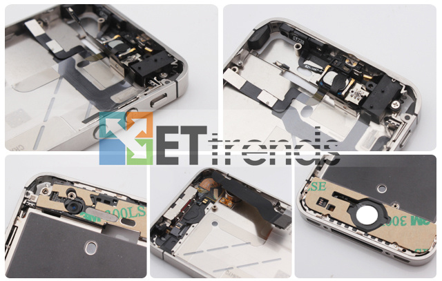 Metal Middle Plate Assembly (Black) for iPhone 4S  (5).jpg