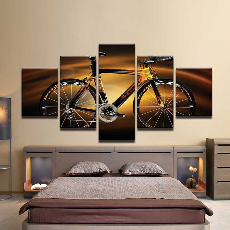 Modular HD Printed Modern Sport Home Decor Wall Art Oil Pictures Bicycle Sunshine Cycling Canvas Painting Poster Unframed