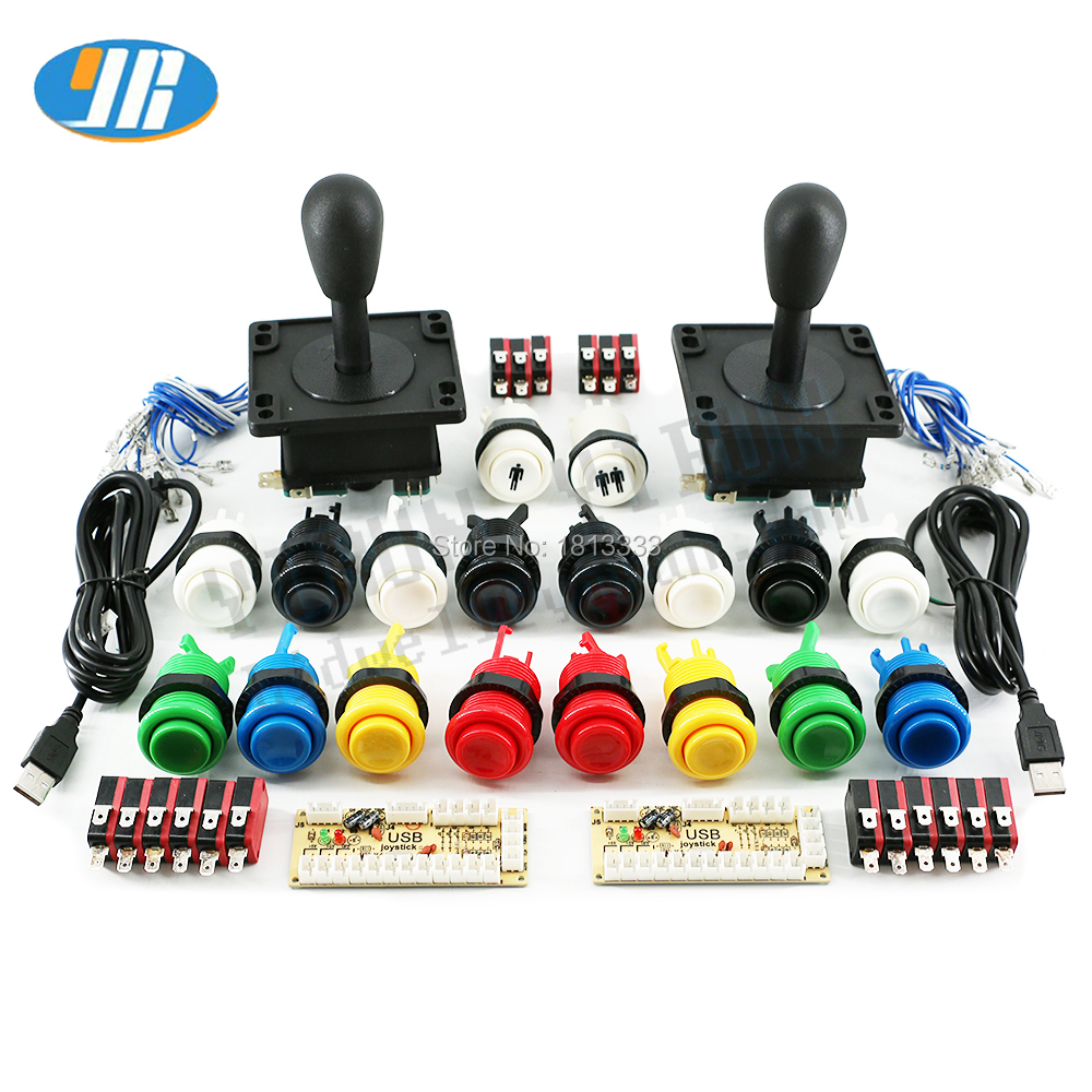 Arcade DIY Kit USB Zero Delay USB Encoder American Style Joystick and Happ Push Button With Micro Switch For Mame Raspberry pi(China)