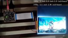 60HZ 5.5 inch 1440p wqhd 2560×1440 vr display lcd screen  with hdmi to mipi for 3d vr glasses diy 3d printer raspberry pi 3