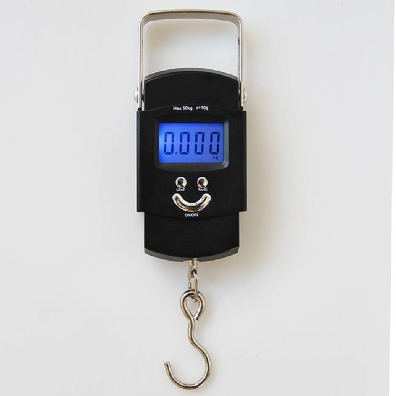 Hot Mini Hanging Scale Pocket Portable 50kg LCD Digital Hanging Luggage Weighting Fishing Hook Scale Electronic Weight Scales portable mini crane scale 150kg lcd digital weight electronic hanging hook scales mayitr