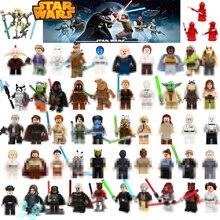 Фигурки из Звездных Войн люк Лея JAR Sith Trooper гривус Хан Solo Maz Анакин Дарт Вейдер йода строительные блоки игрушки