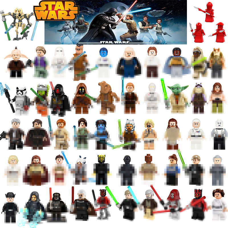 สำหรับ Star Wars Starwars Luke Leia JAR JAR Sith Trooper Grievous Han Solo Maz Anakin Darth Vader Yoda Building บล็อกของเล่น