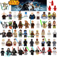 For Star Wars Figures Starwars Luke Leia JAR JAR Sith Trooper Grievous Han Solo Maz Anakin Darth Vader Yoda Building Blocks Toys(China)