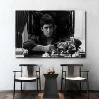 Póster de película para pared AL PACINO SCARFACE decoración de pared impresiones de seda pinturas en póster para sala de estar