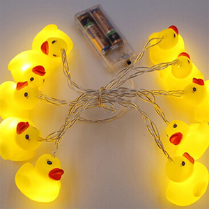 Image 3 - 10Leds/20Leds Mini Yellow Duck LED String Light Glow Indoor Outdoor Xmas Wedding Party Battery Operated LED Fairy Light