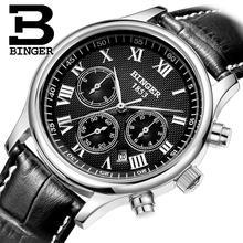 2017 RECIÉN llegado de Binger Mens Relojes de Primeras Marcas de Lujo Mecánico Automático de Los Hombres Reloj Militar Reloj Hombre Impermeable B6036