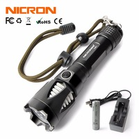 NICRON 5W Long Beam Ultra Bright LED Flashlight High Brightness Waterproof IPX8 MINI Waterproof 5 Modes
