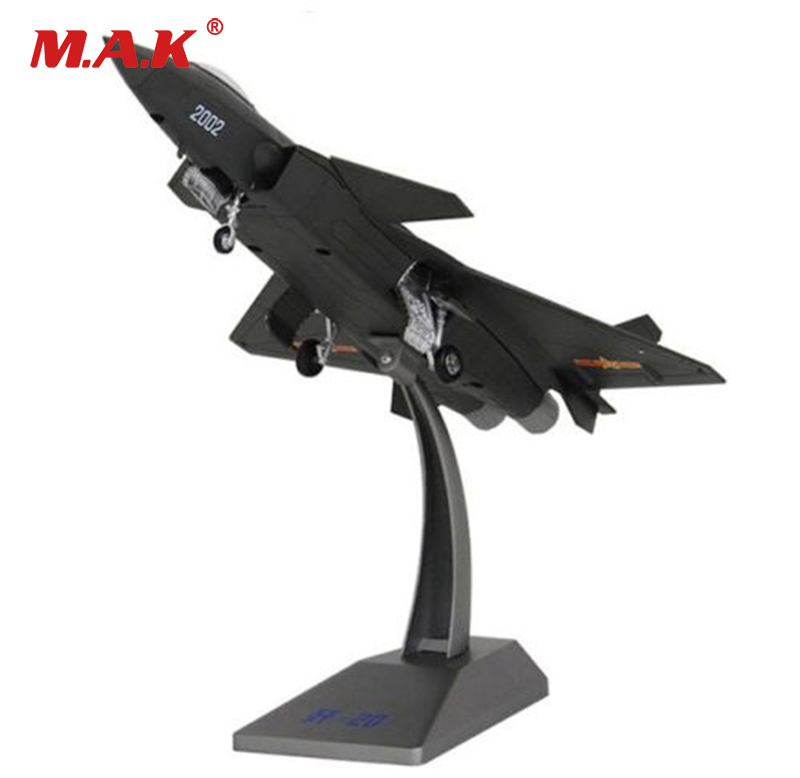 kids toys 1:72 Alloy Diecast Aircraft Model J-20 Black Eagle Stealth Fighter model Toy for Collection new year gift 1 400 jinair 777 200er hogan korea kim aircraft model