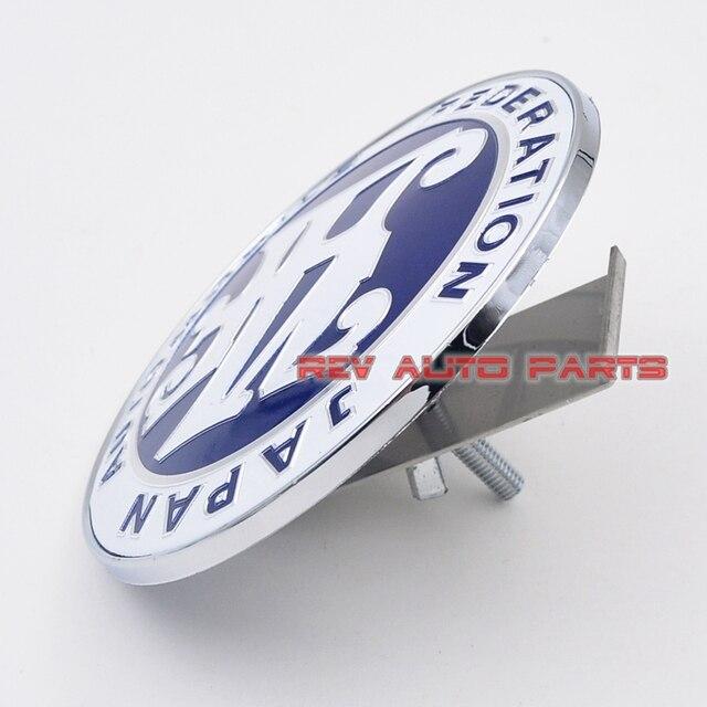 Livraison Gratuite! Insigne universel d'emblème de JAF de calandre avant de voiture de couleur bleue universelle de JDM