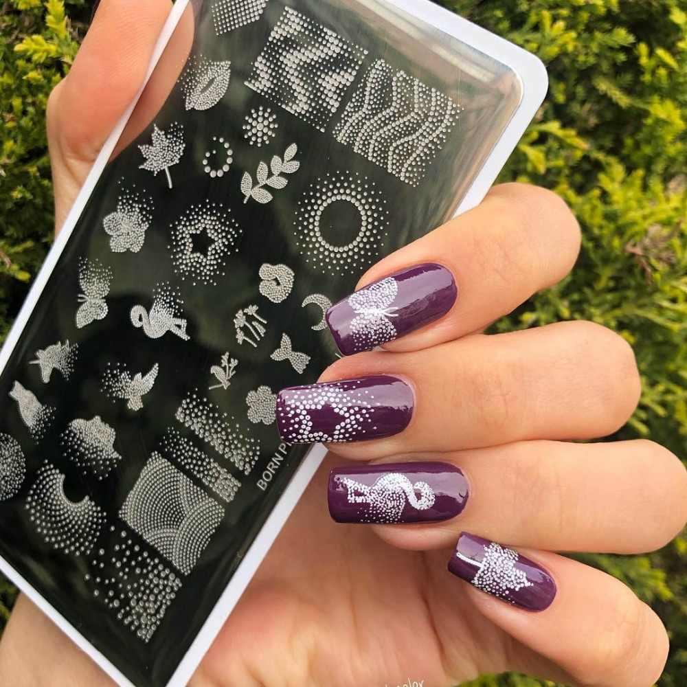 BORN PRETTY ногтей штамповки пластины шаблон для ногтей Мандала клен отпечаток листика дизайн ногтей штамп шаблон изображения
