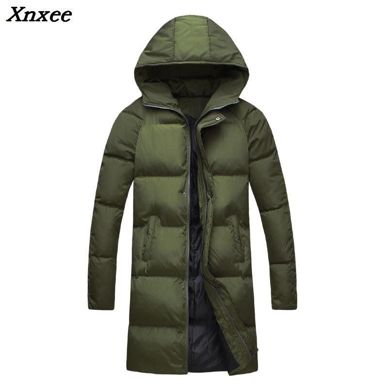 2018 nouvelle mode hiver veste hommes neige à capuche Parkas hommes épais chaud solide Long hiver vestes hommes manteaux grande taille S-4XL 5XL