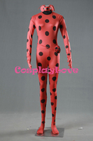 Lizenz Cosplay Miraculous Marienkäfer Marinette Kostüm Erwachsenen Roten Zentai Pyjamas Overalls für Halloween Cusotm Gemacht