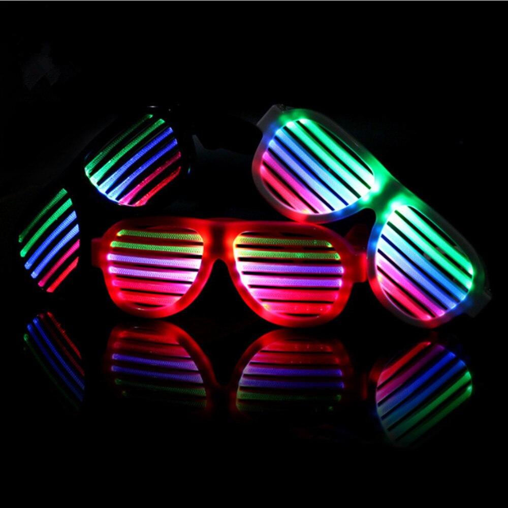 Ny! USB-ljudreaktiva uppladdningsbara LED-glasögon för fest, - Festlig belysning - Foto 2