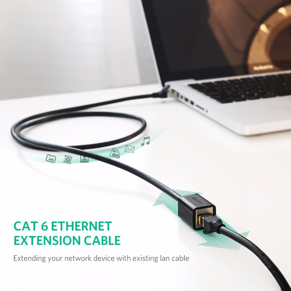 Ugreen Cat6 Ethernet Extension Cable Rj45 Cat 6 Male To Wiring Diagram On Hi Power Lightning Protector Jacks Female Lan Network Adapter For Pc Laptop 1m 3m 5m