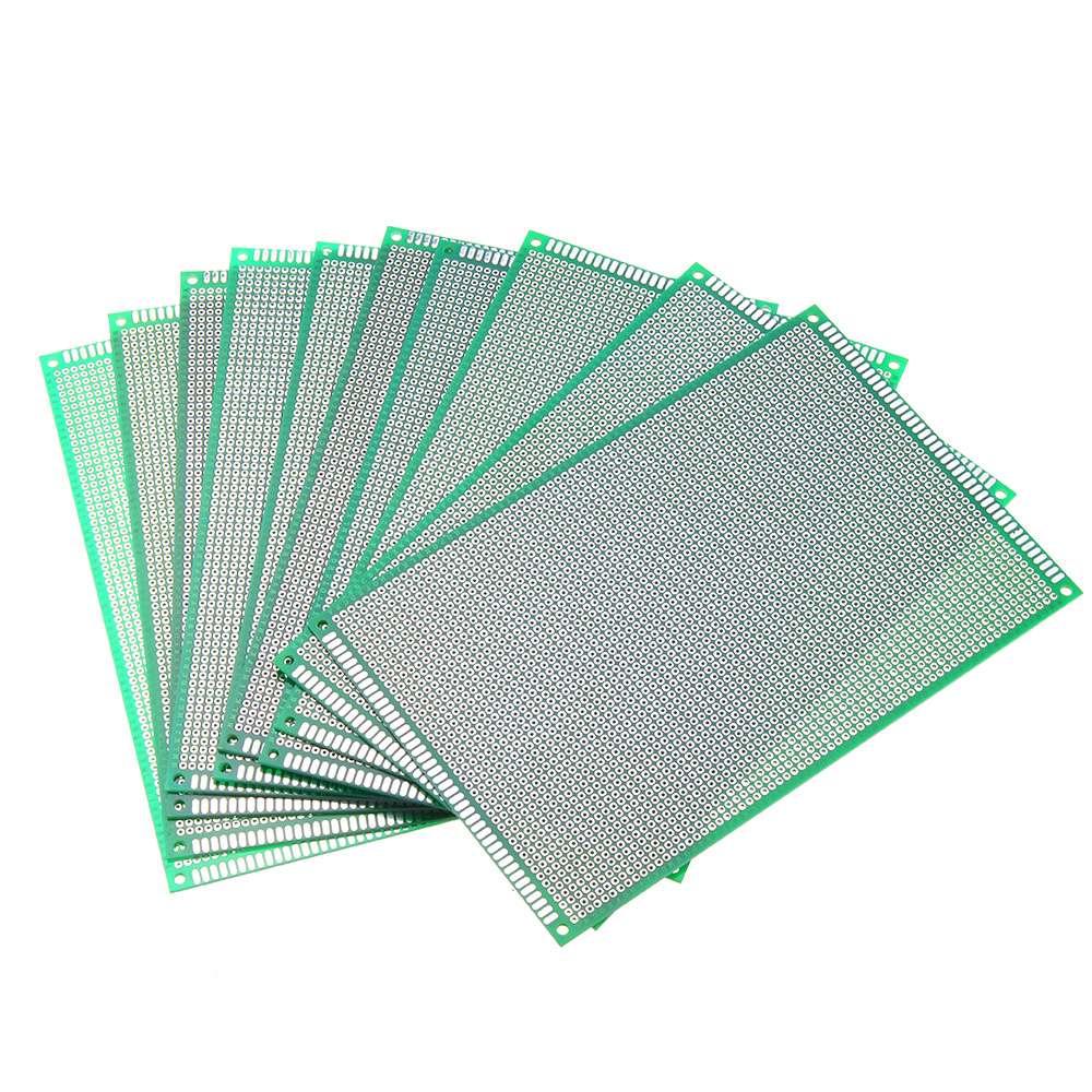 Image 2 - 10 ピース/セット 12 × 18 センチメートル FR 4 2.54 ミリメートル片面 DIY はんだプロトタイプ Pcb プリント回路基板片面 PCB   -