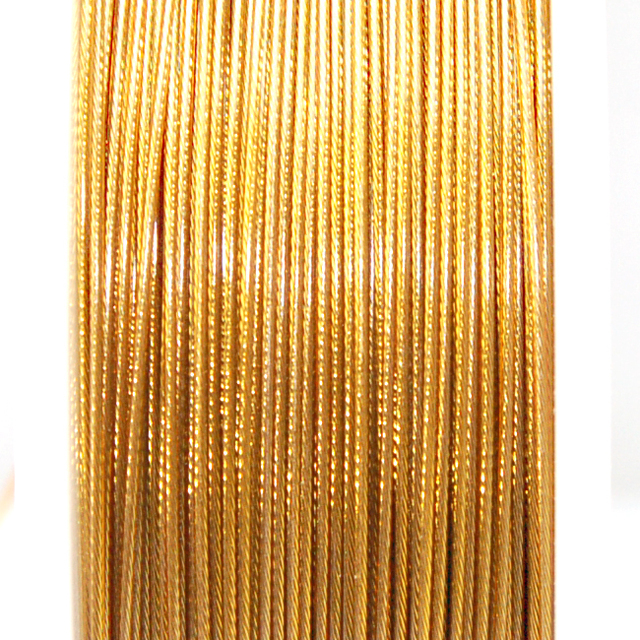 High quality stainless steel wire,0.6mm brown korea tigertail beading wire,thread cord,coated with plastic protective film wire