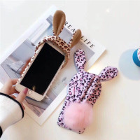 Novelty Leopard Print Hat RABBIT Cute Soft Mobile Phone Case For IPhoneX 8 8Plus 6 6S