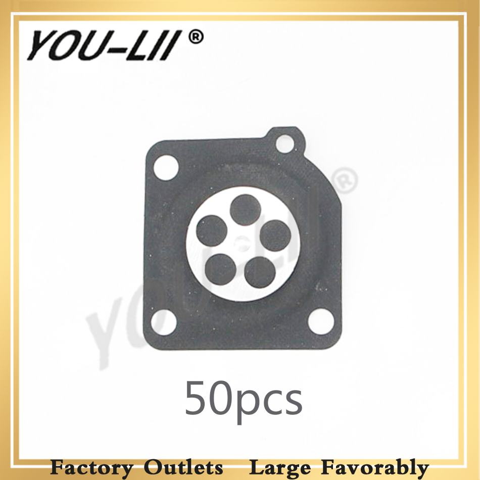 YOULII 50pcs lot For ZAMA 180 Metering Diaphragm Gasket Parts For Chainsaw MS210 MS230 MS250 Chainsaw