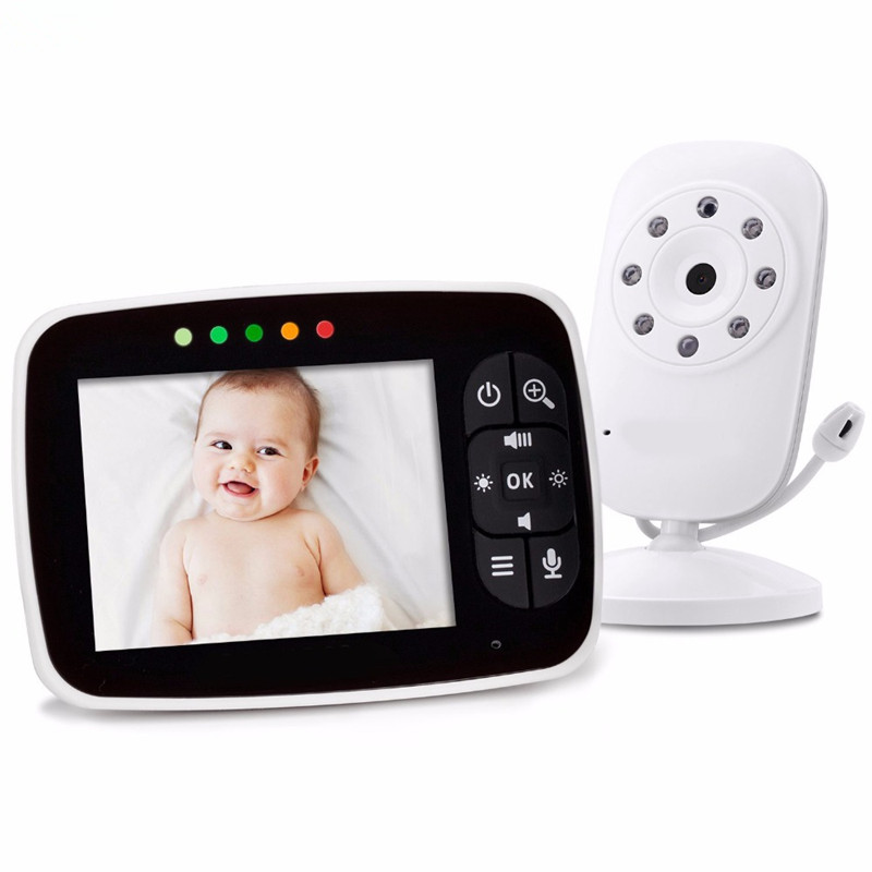 MBOSS Smart Baby Monitor 3 5 Inch LCD Digital Camera Wireless Babysitter Video Audio Monitor