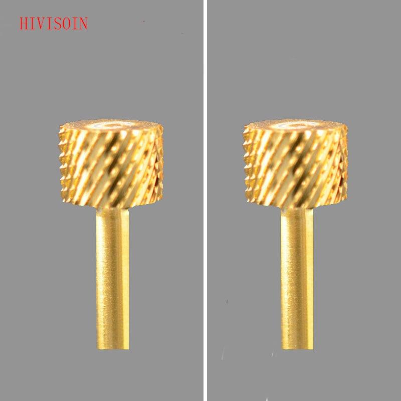 2PCS HIVISOIN Carbide Nail Drill Bit -  4-Week Backfill Bit  C  (Gold)