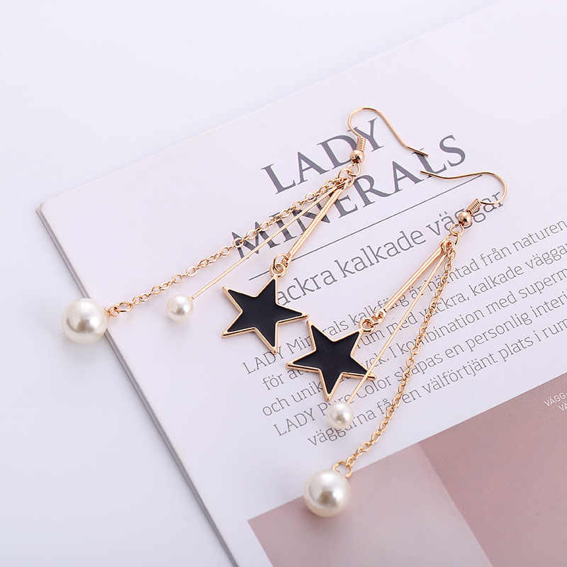New black star temperament pearl earrings jewelry female wholesale
