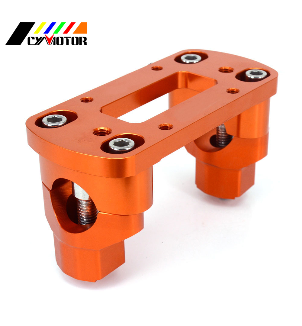 28mm CNC Billet Guiador Fat Bar Risers Braçadeira de Montagem Adaptador Para KTM SX EXC SXF XCW EXCF XCFW 125 250 300 350 400 450 530 00-15
