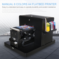 A4 Flatbed Printer Multicolor A4 Size DTG T Shirt Printer Directly to Print Dark Light Color for TShirt Clothes Printing Machine