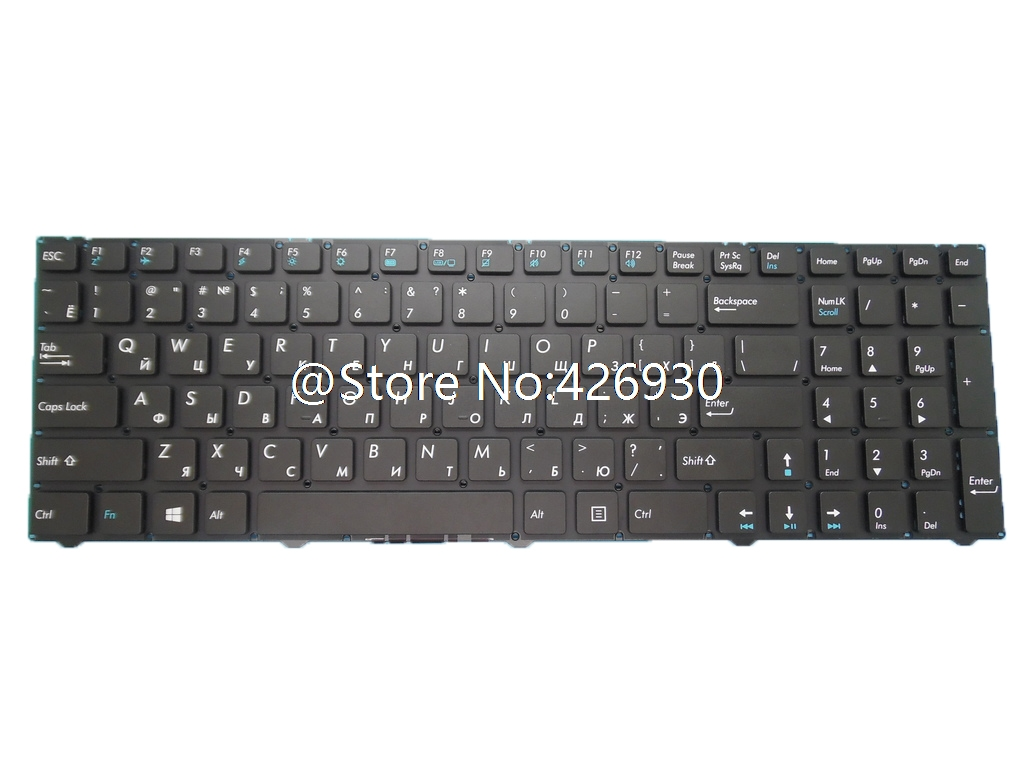 Laptop Keyboard For DEXP For Atlas H130 H134 H135 H178 Russian RU Black Without Frame New