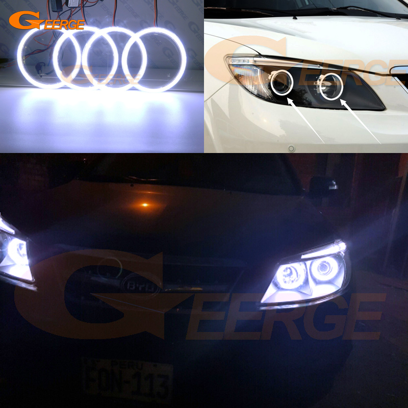 For BYD S6 2011 2012 2013 2014 Excellent angel eyes Ultra bright illumination COB led angel eyes kit halo rings for alfa romeo mito 2008 2009 2010 2012 2013 2014 2015 excellent angel eyes ultra bright illumination cob led angel eyes kit