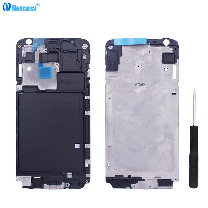 Netcosy Front Frame Bezel Housing LCD Screen Holder Frame For Samsung Galaxy J7 J700 J700F SM-J700F Middle Frame Cover +Tools