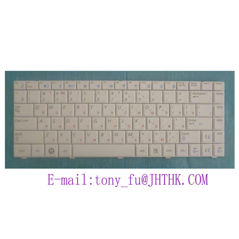 NEW for SAMSUNG NP X418 X420 Russian RU keyboard white BA59 02654A as photo