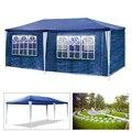 Открытый Водонепроницаемый 3х6 м садовые тент шатер с тентом Кемпинг Тент-беседка синий 6 боковые стенки активного отдыха на природе тент