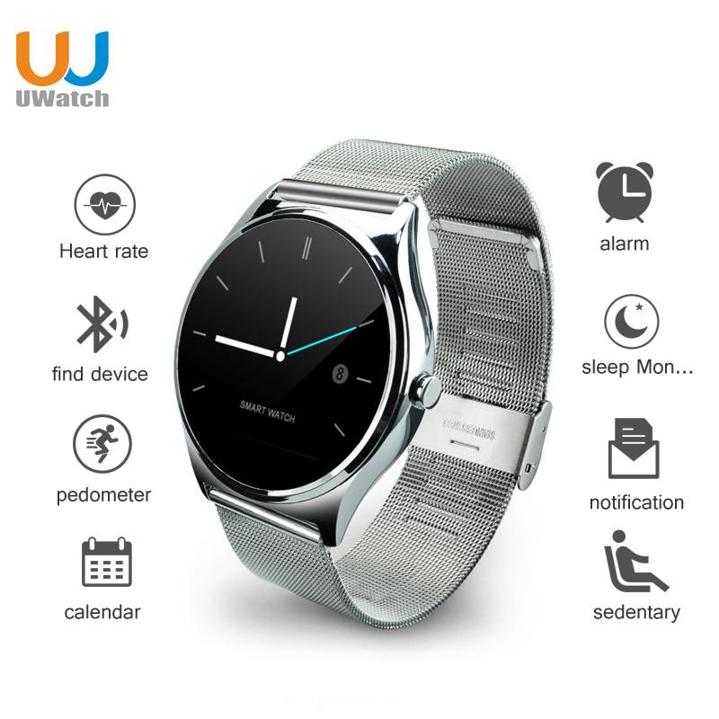 UWatch Smart Watch Bluetooth round screen Smart Electronics smartwatch for IOS i