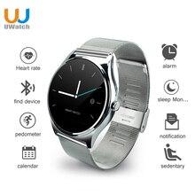 Uwatch smartwatch smart watch bluetooth rodada tela eletrônica inteligente para ios iphone 5/5s/6/6 s xiaomi pk k88h kw18 gw01