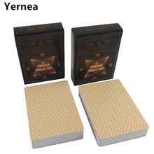 Yernea 4 Sets / Lot  Playing Card Texas Poker Cards Plastic Frosted Surface Waterproof Frost Board Games