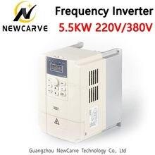 Melhor inversor variável 220 v 380 v da frequência de 5.5kw vfd para o controle do motor do eixo cnc newcarve