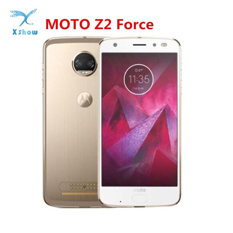 Original Motorola MOTO Z2 Force XT1789-05 5.5 inch Snapdragon 835 4GB+64GB 12MP rear cameras NFC Android 8.0 4G LTE Smartphone(China)