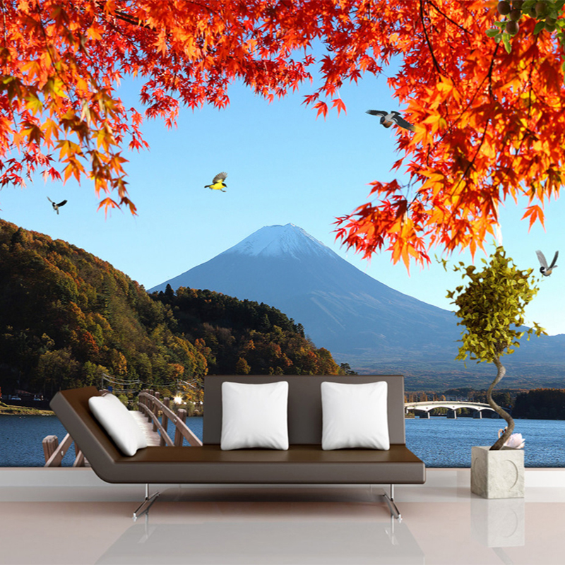 aesthetic natural bedroom background decor wall scenery lake living papers landscape wallpapers papel parede 3d