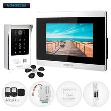 """HOMSECUR 7 """"Bedraad Video & Audio Smart Deurbel Intercom met Wachtwoord Toegang 800TVL Waterdichte Camera voor Huis/Flat BM715 S + BC091"""