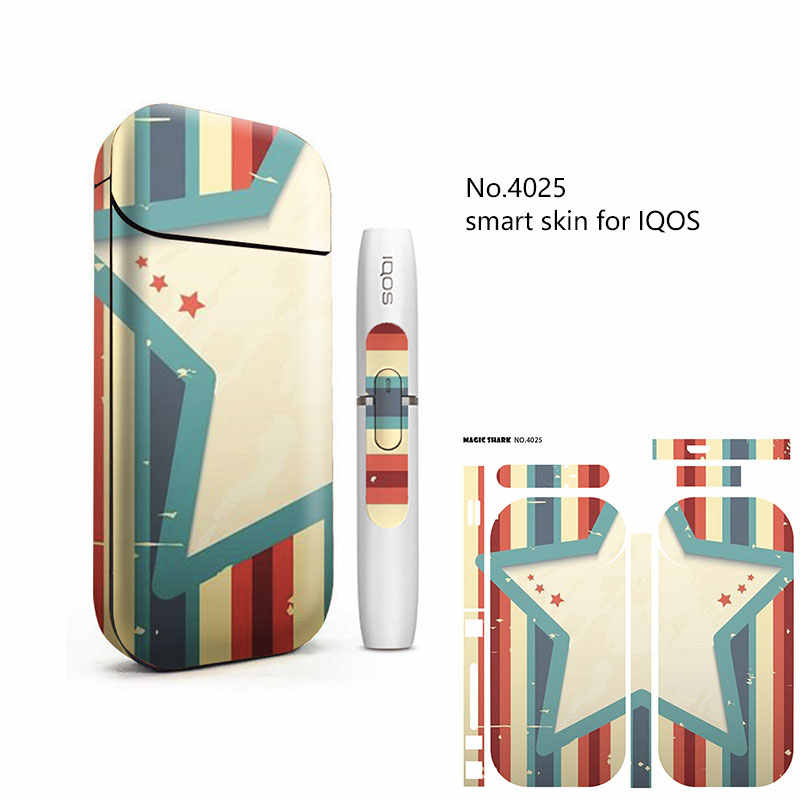 Волшебный Акула зонтик виниловые пластинки череп Медведь ПВХ наклейка чехол для IQOS 2,4 плюс Flim E-Cigarette
