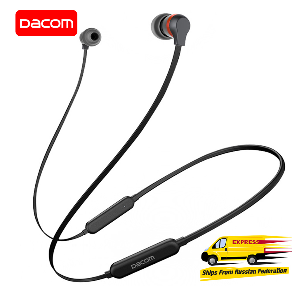 DACOM L06 Bluetooth Earphone Wireless Sports Headphones Stereo Bass Headset with Microphone Graphene Earphone for iPhone Samsung gorsun e1 sports wireless bluetooth headsets stereo noise reduction earphone heavy bass folded headphones with microphone for pc