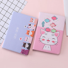 цены на For New iPad 2017 2018 Case Cartoon Cute cat PU Silicone Soft Back Tablet Cover For iPad Air 1 Air 2 Flip smart stand Case  в интернет-магазинах