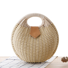 New Style Shell Straw Handbag Personalized Lovely Rattan Weaving Bag Woven Women Natural Basket Totes Casual bag