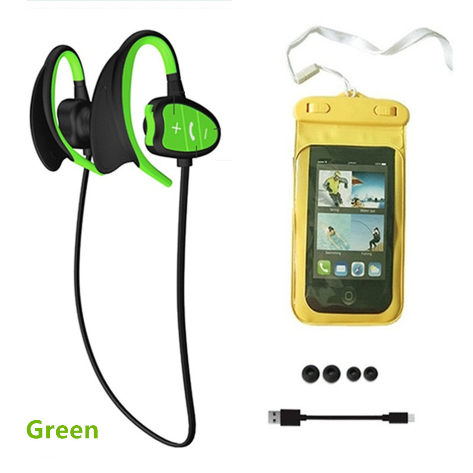Wireless Earphones IPX8 Waterproof Bluetooth Headset Noise Cancelling Earbuds earphone for phone headphone with mic auriculares