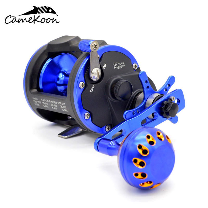 CAMEKOON Level Wind Trolling Reel 4 1 5 1 1 Gear Ratio 15KG Max Drag Powerful